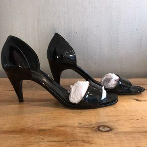 Louis Vuitton black patent leather sandals